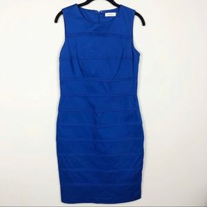 Calvin Klein Royal blue cotton sheath dress